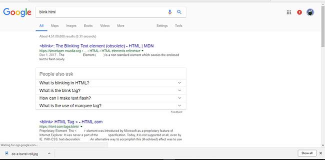 blink html- google easter eggs
