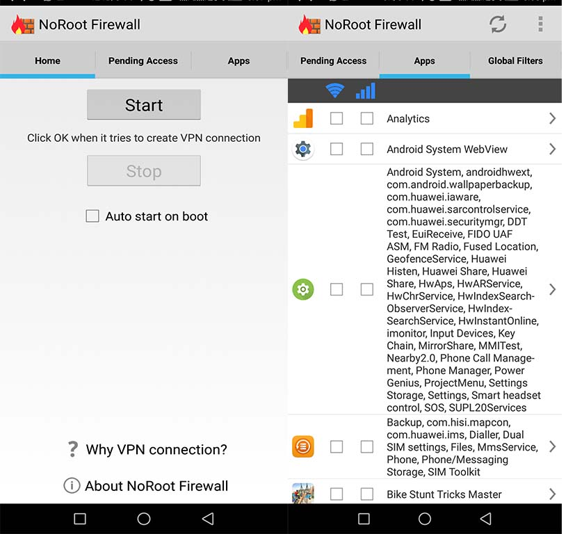 install firewall in android