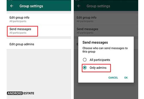 restrict participants from messaging