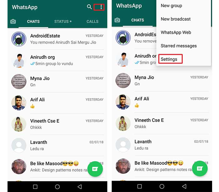 hide whatsapp media